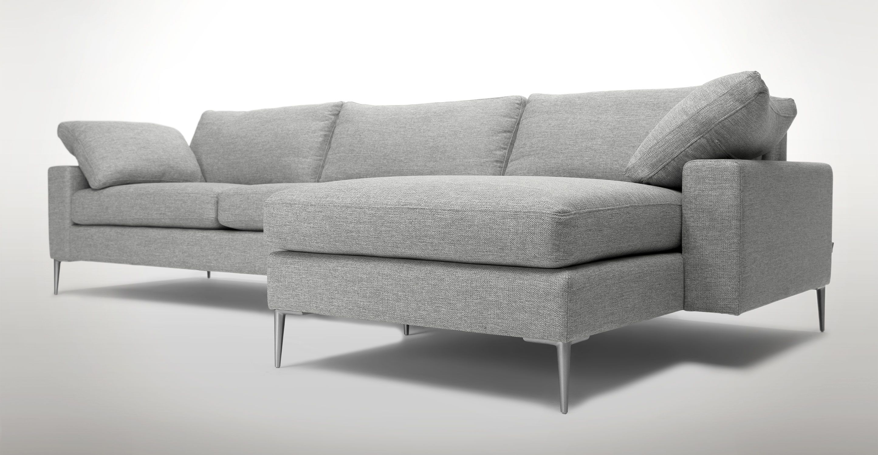 Brilliant Nova Winter Gray Right Sectional Sofa Seating Sofa Ncnpc Chair Design For Home Ncnpcorg