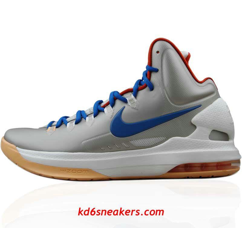 5692e85a95c Nike Zoom KD V gray Kevin Durant Basketball shoes  KD  5