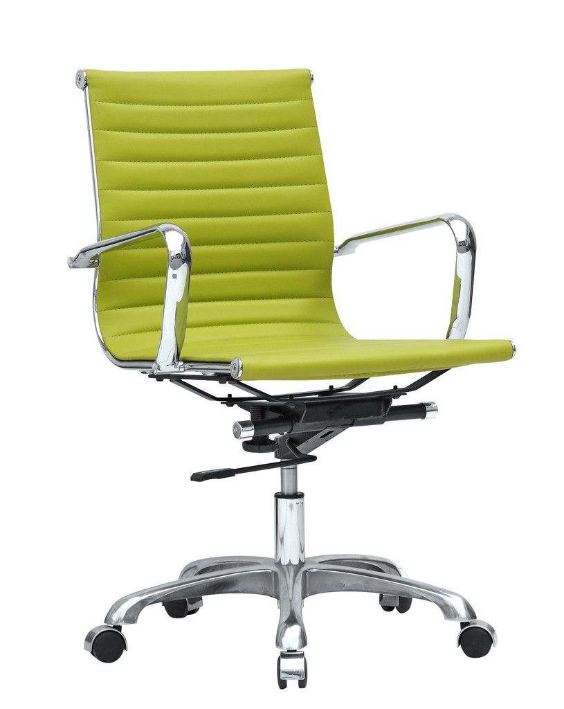 mid century modern conference office chair mid back lime green  - mid century modern conference office chair mid back lime green  office contemporary furniture warehouse