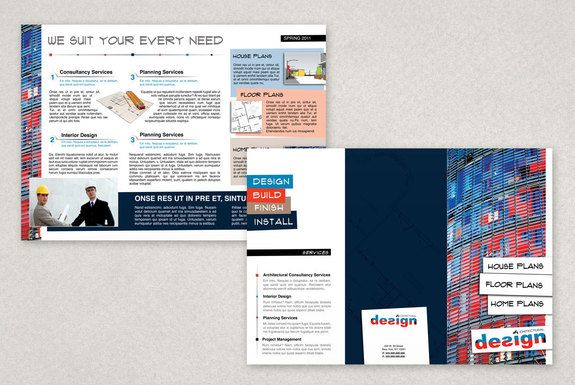 Vibrant Architecture Firm Brochure Template Cool Products