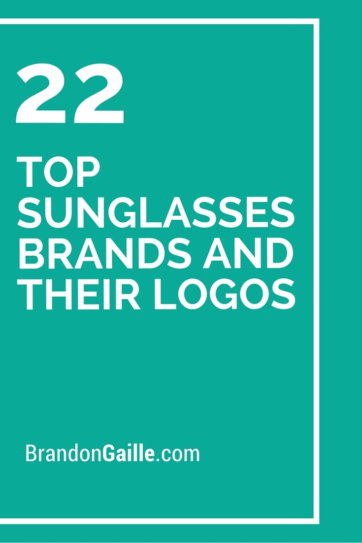 c03c111bfbe5 22 Top Sunglasses Brands and Their Logos List of 22 Top Sunglasses Brands  and Their Logos