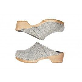 37088bd00c9b 63 funkis clog classic felt light grey Clog Sandals