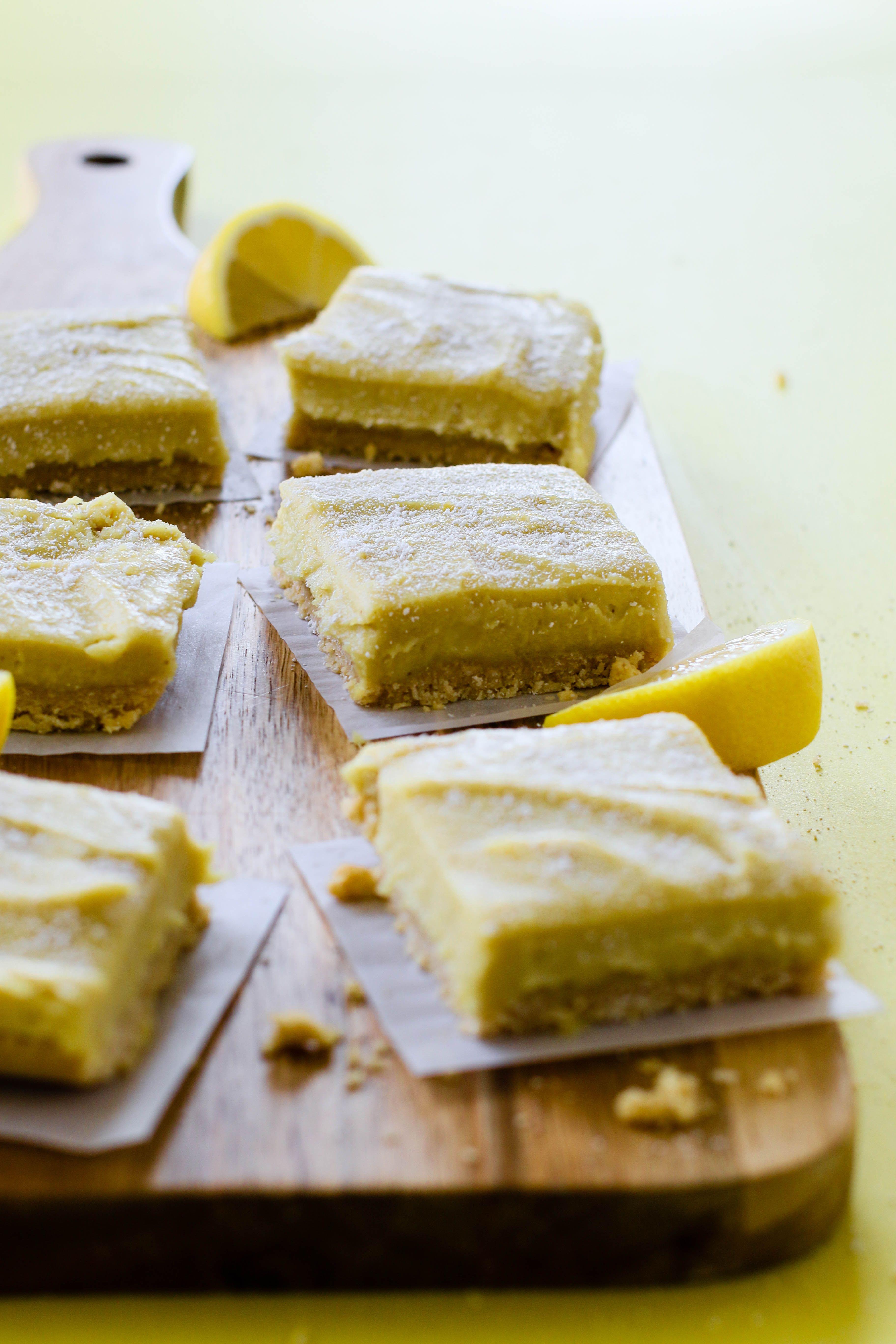 No Bake Lemon Pie Bars Recipe Lemon Pie Bars Raw Vegan