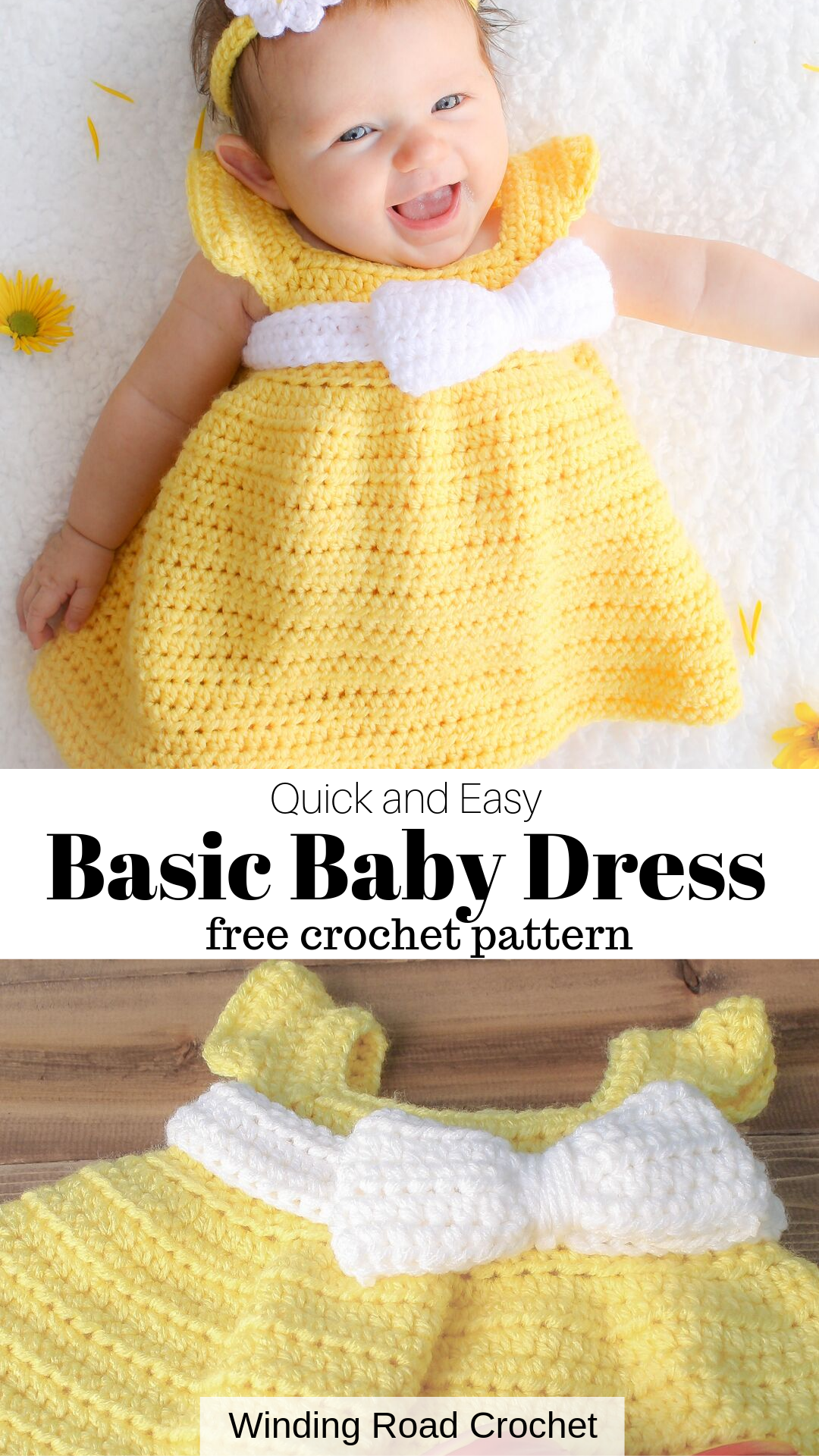 Simply Spring Baby Dress: 6 - 18 Months #crochetbabycardigan