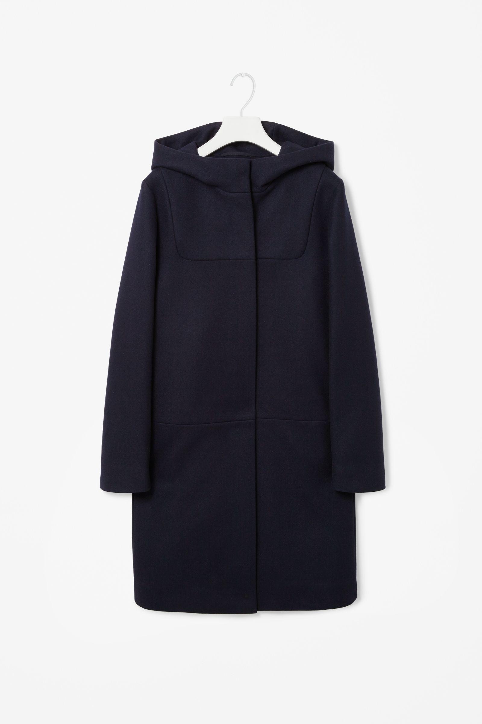 dca552ed Hooded wool coat | cos | Style & Clothing | Hooded wool coat, Wool ...