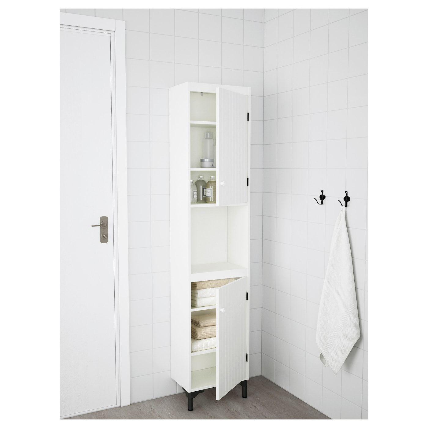 Armoire Haute De Salle De Bain ikea - silverÅn armoire haute 2 portes blanc   meuble