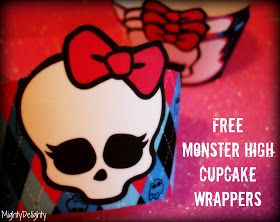 mighty delighty monster high cupcake wrappers free printable