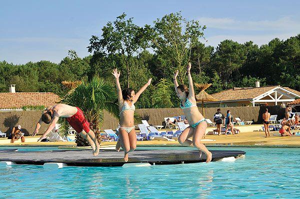Camping Eurolac en Aquitaine - Mimizan - Lac Aureilhan avec piscine - camping dordogne etoiles avec piscine