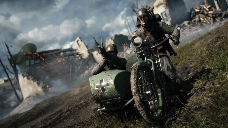Battlefield 1 Soldier Riding Motorcycle Wallpaper With Images