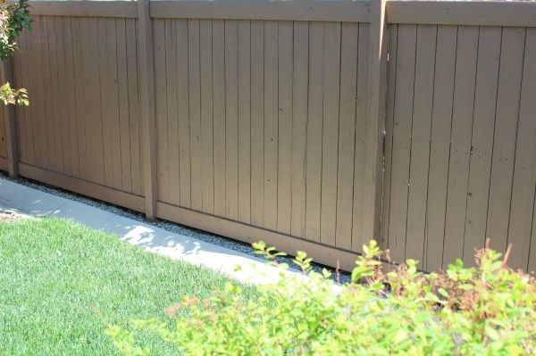 The Orange Fence Is Gone Satori Design For Living Fence Stain