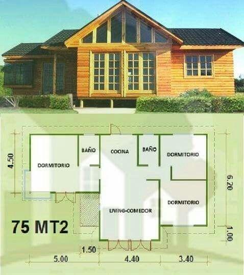 Pin de francisca en casas pinterest planos casas y for Casas de campo prefabricadas