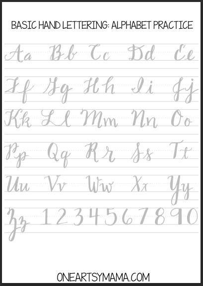 Yesterday I Got An Email From A Reader Named Jamie Wood Who Took The Sample Alphabets Shared In Previous Hand Lettering
