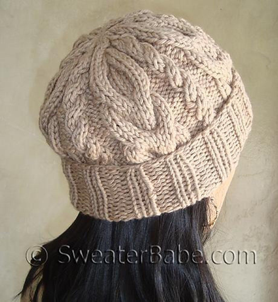 105 Slouchy 2-Way Cabled Hat | Knit picks, Circular needles and ...