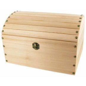 coffre pirate bois brut grande taille