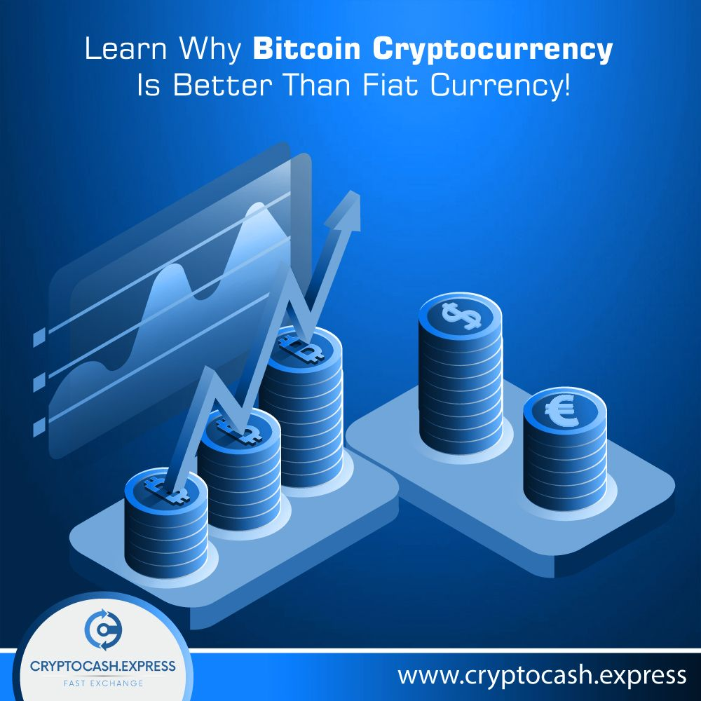 Cryptocash Express Bitcoin cryptocurrency, Fiat money