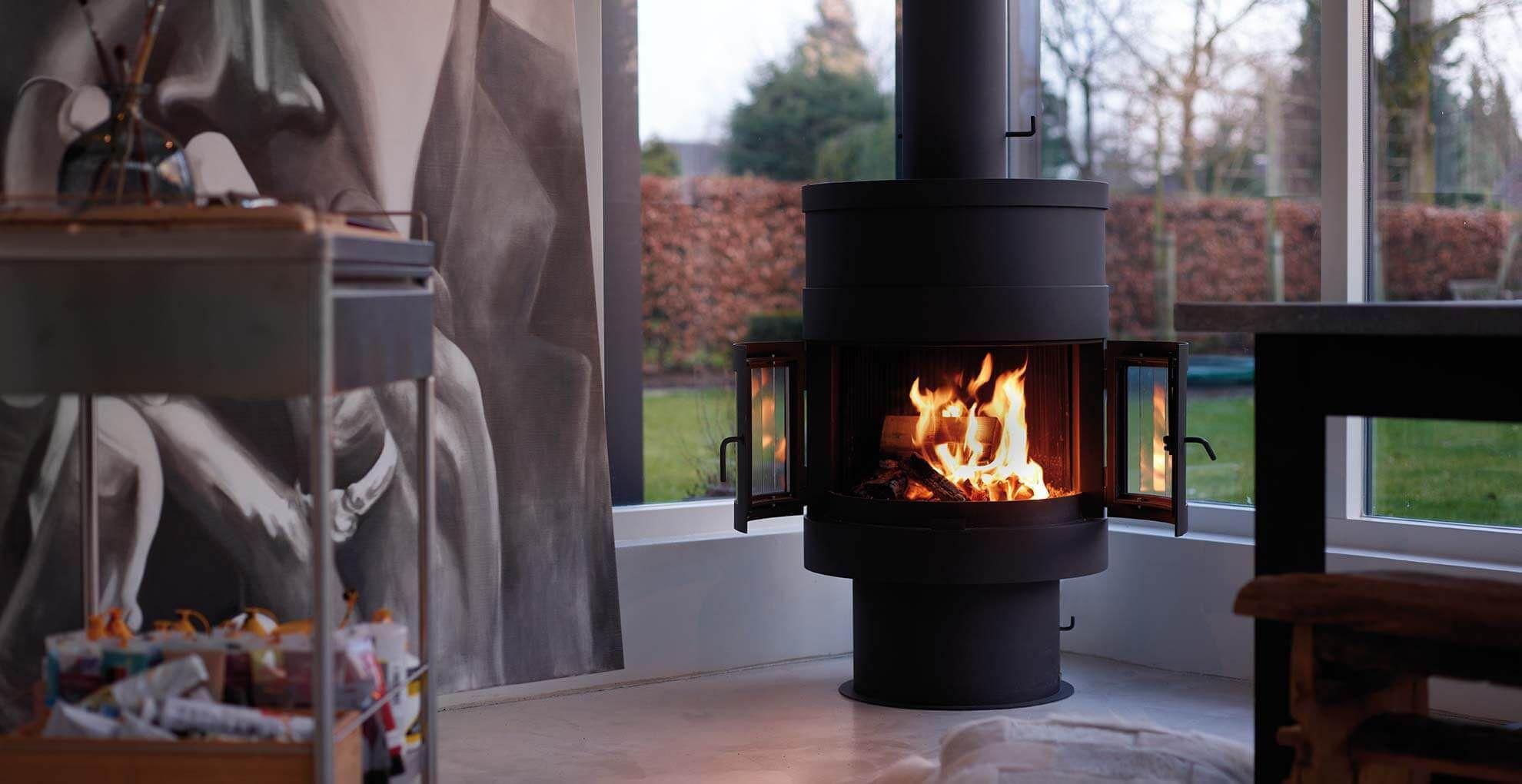 Gas Fireplace X2f Wood X2f Contemporary X2f Closed Hearth 993 Boley Standing Fireplace Fireplace Freestanding Fireplace