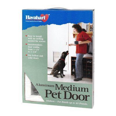Havahart Wireless Aluminum Pet Door Size: