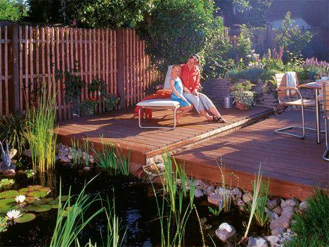 Gartenteiche an terrasse  Bildergebnis für terrasse holz und stein kombinieren | garden ...