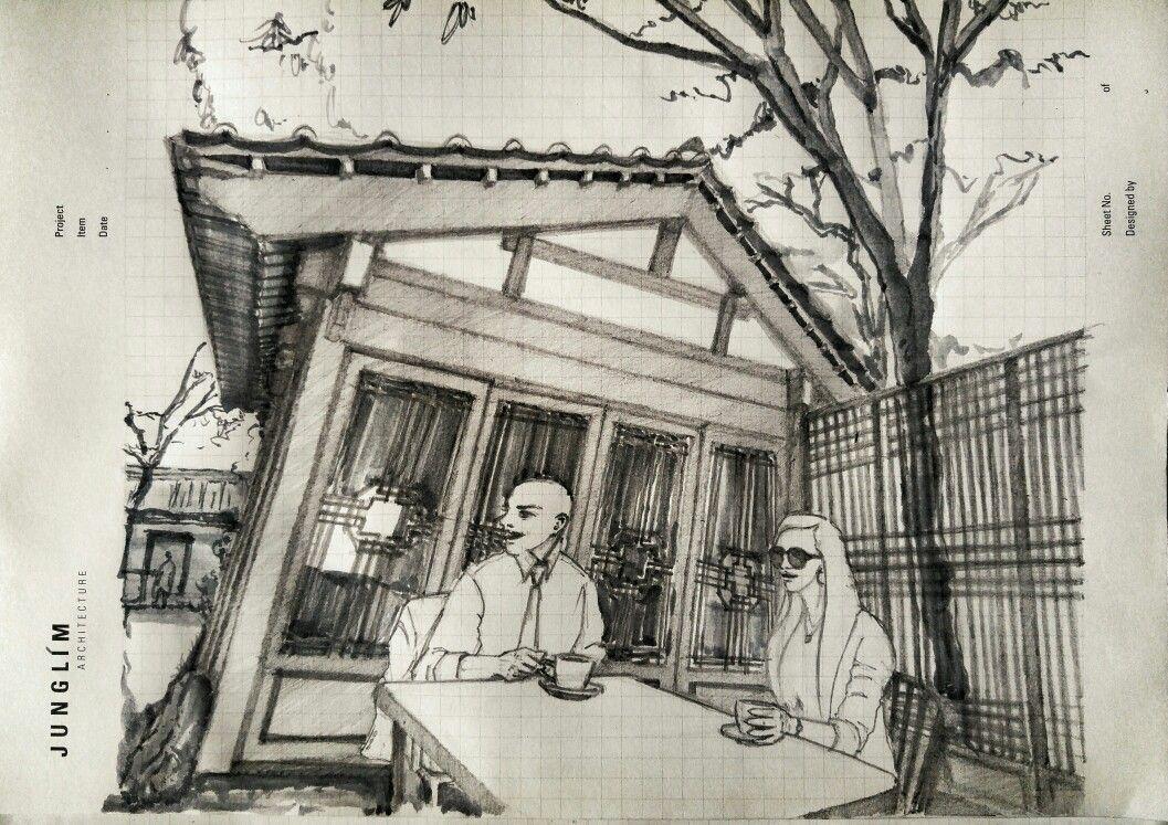 Cafe ln ,samcheongdong in seoul,korea(이미지 포함) | 스케치, 건물