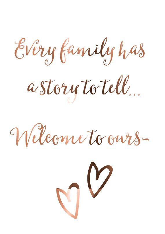 family quote print copper