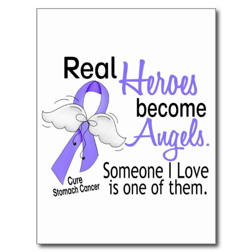 Real Heroes Become Angels Stomach Cancer Postcard | Others ...