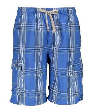 Classic Blue Basic Plaid Cargo Shorts by Zulily