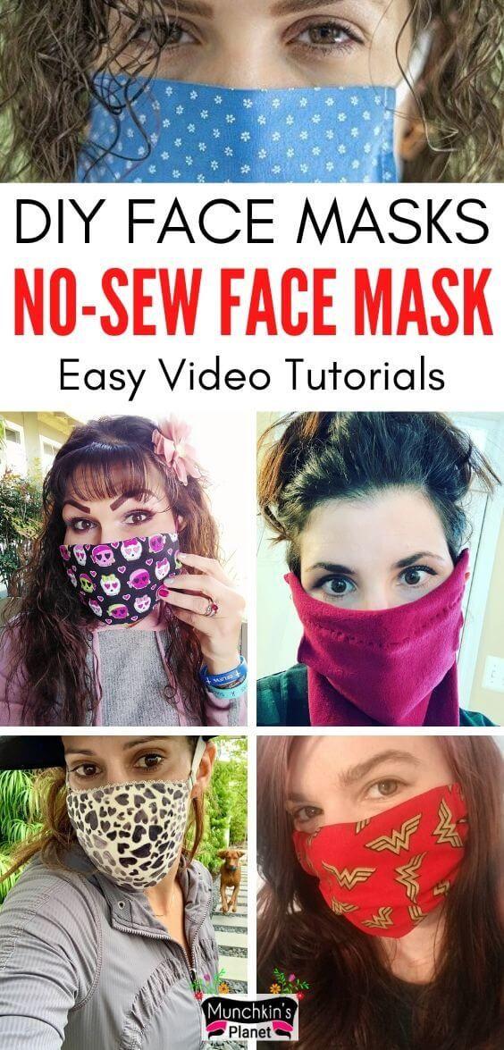 Photo of Homemade Face Masks – 7 No-Sew DIY Ideas | Munchkins Planet