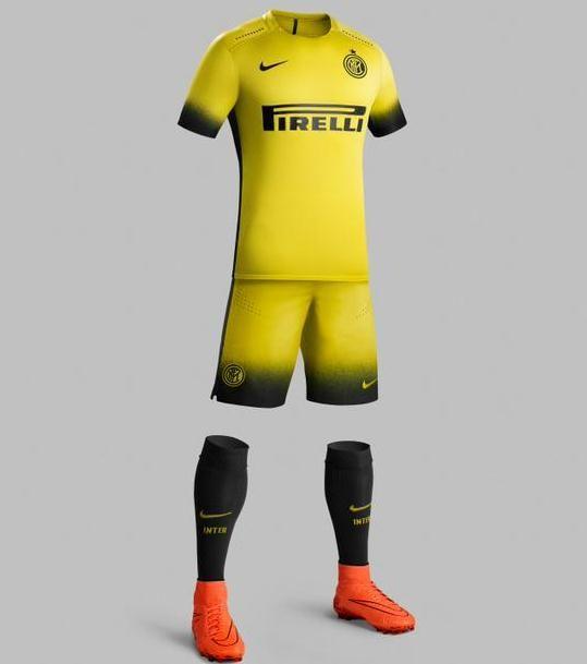 finest selection 2efc4 3f358 Yellow Inter Milan Kit 15 16 | Inter Milan | Soccer shirts ...