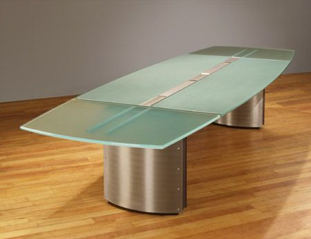 Merveilleux Glass Top Conference Tables And Contemporary Boardroom Tables With A Center  Wiring Trough For Sale.