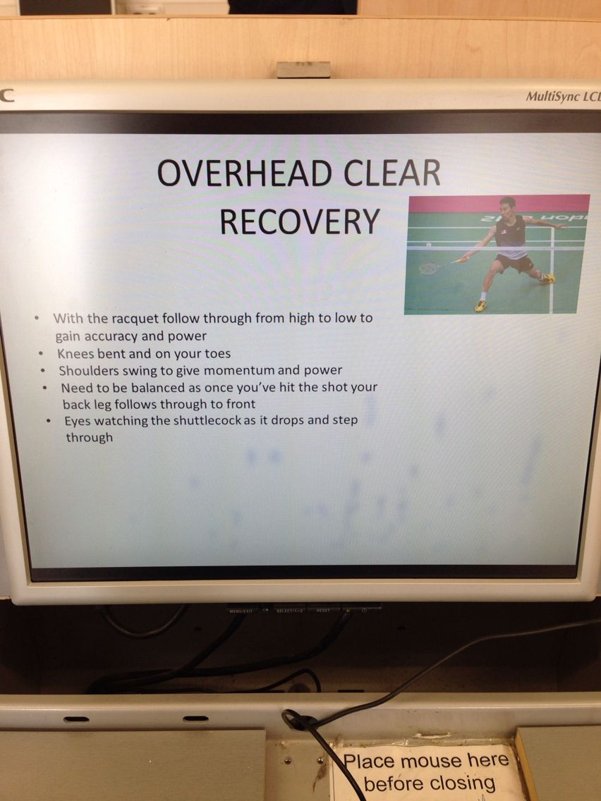 Badminton Overhead Clear - Recovery | Practical Individual