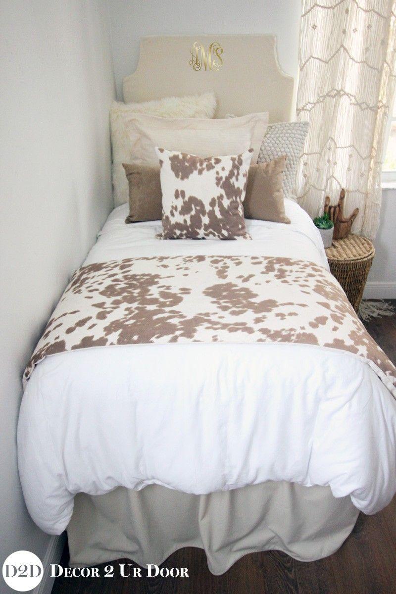 To Selling Dorm Bedding For Girls Tan Cowhide Designer Dorm