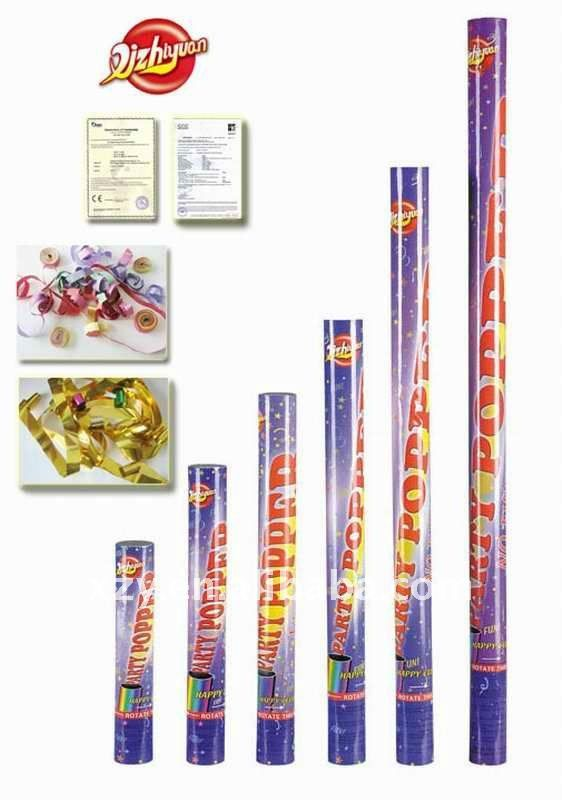 """8/"""" NO FIREWORKS Lot Of 24 pc Party Poppers Confetti Shooter Cannon Streamer"""
