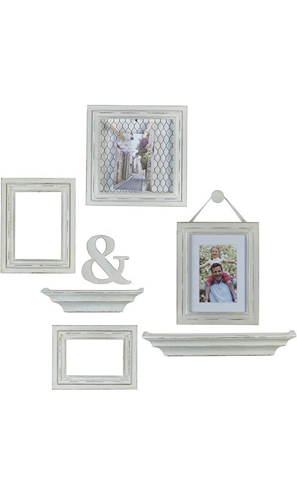 Melannco 8-Piece Distressed Wall Picture Frame Set (White) Best ...