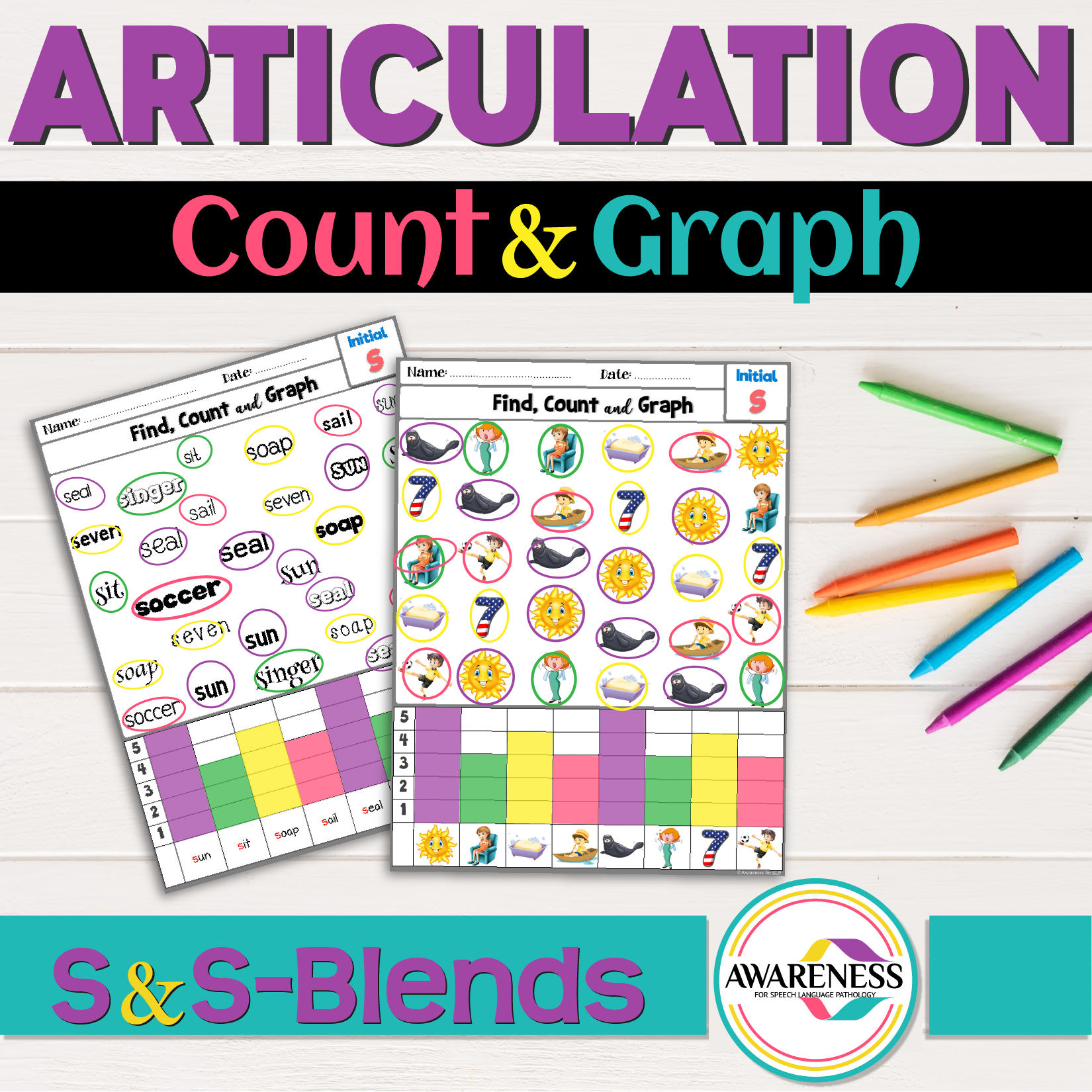 S Sound And S Blends Articulation Count And Graph Is A No