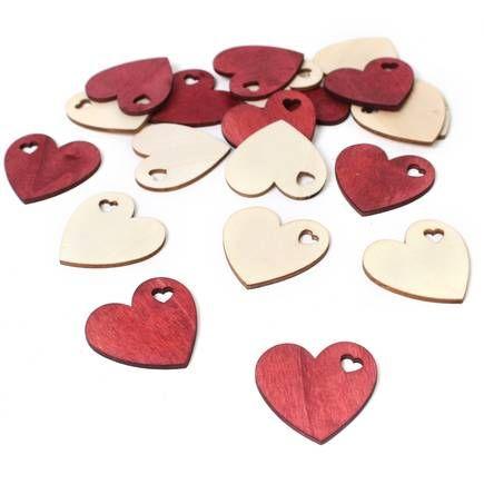 Heritage Christmas Heart Wooden Shapes 20 Pack   Hobbycraft   Frame ...
