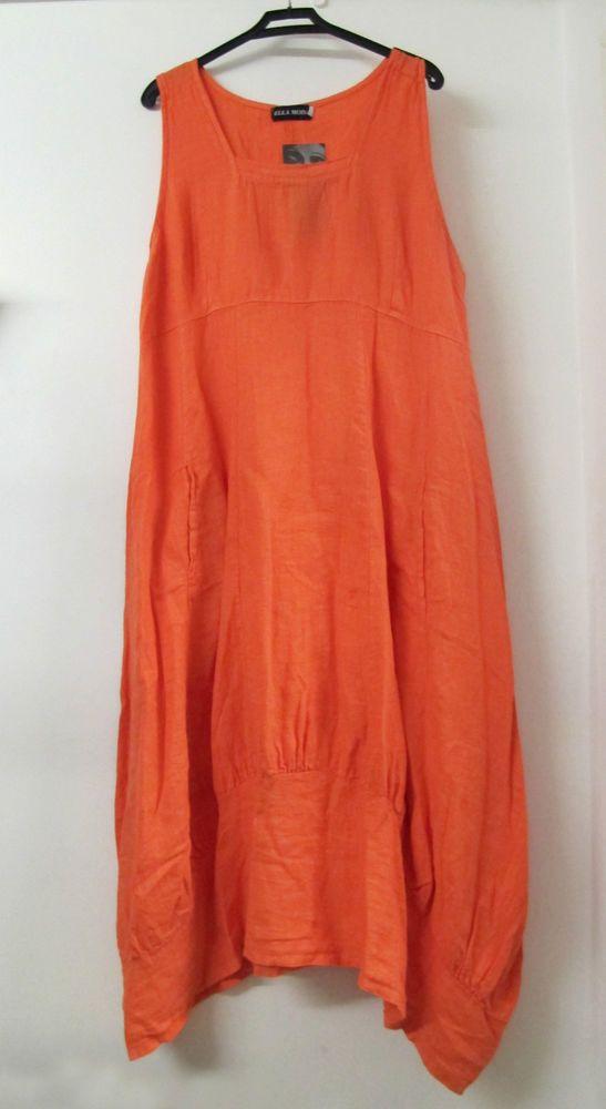 625ae101e2e7e Details about Ella Moda Lagenlook Natural Linen Long Summer Dress ...