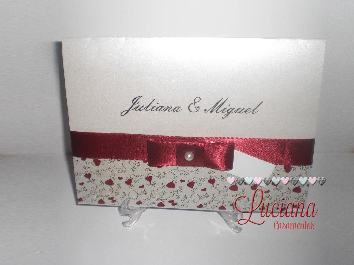 Convite Aspen Mod. Juliana e Miguel