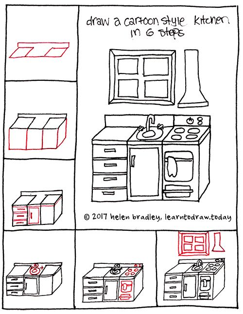 Photo of How to Draw a Cartoon Kitchen in 6 Steps