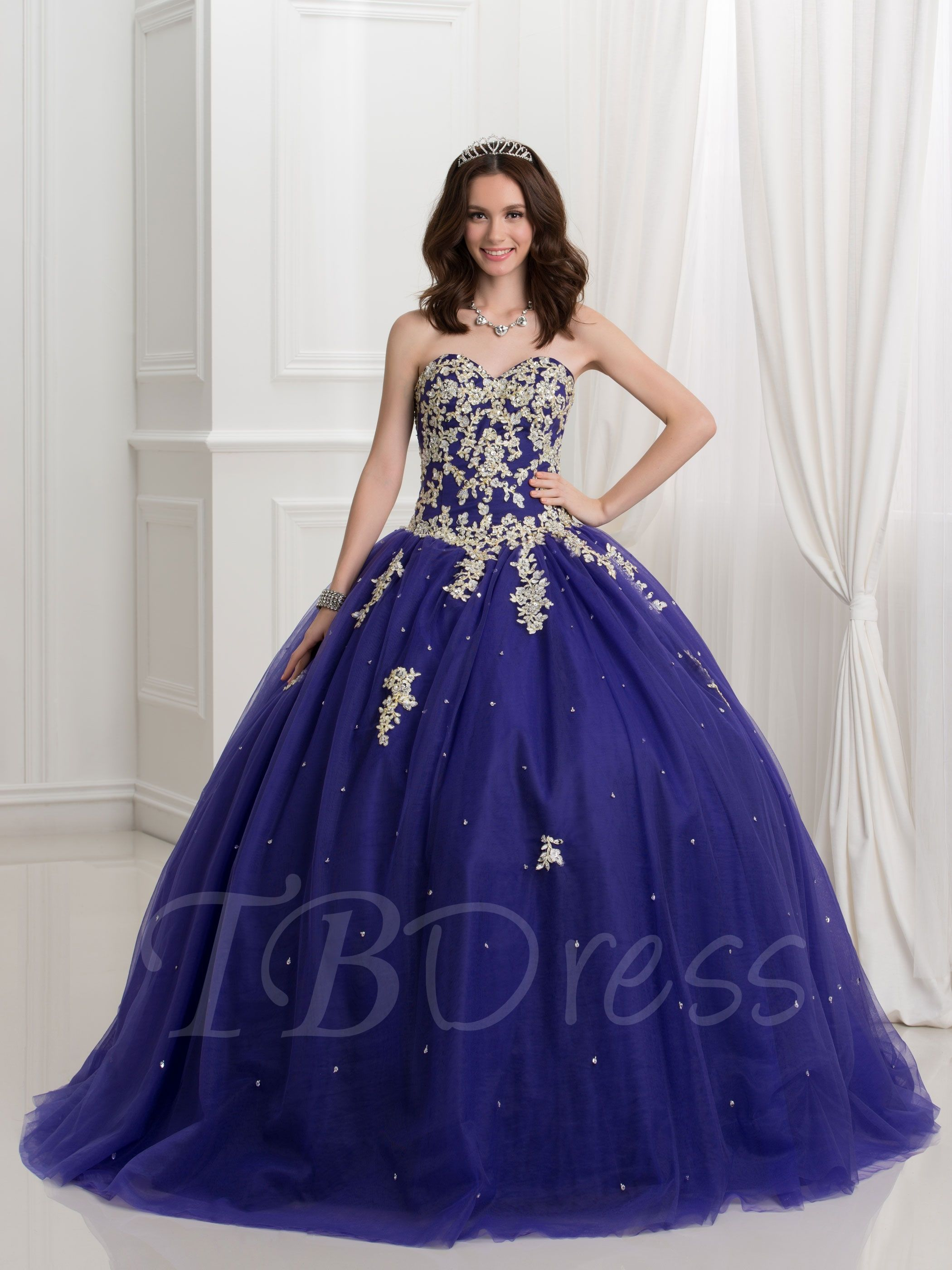68d6c5456a0 Sweetheart Ball Gown Sequins Beaded Lace-Up Quinceanera Dress