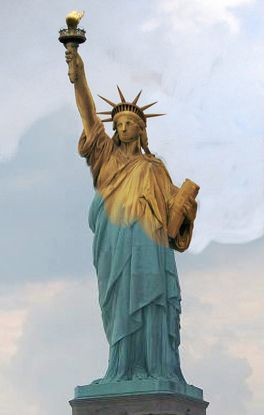 The original color of the Statue of Liberty was a dull ...