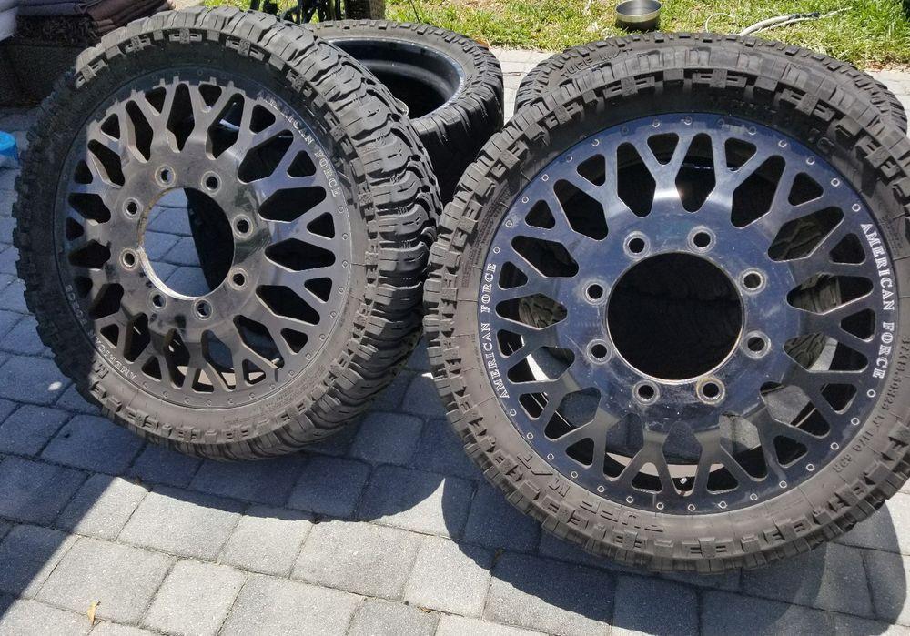 American Force Evo 26 X8 25 Black Coated Dually Wheels Rims Set Of 6 Truck Wheels Dually Trucks Wheel Rims Car Wheels Rims Dually Wheels