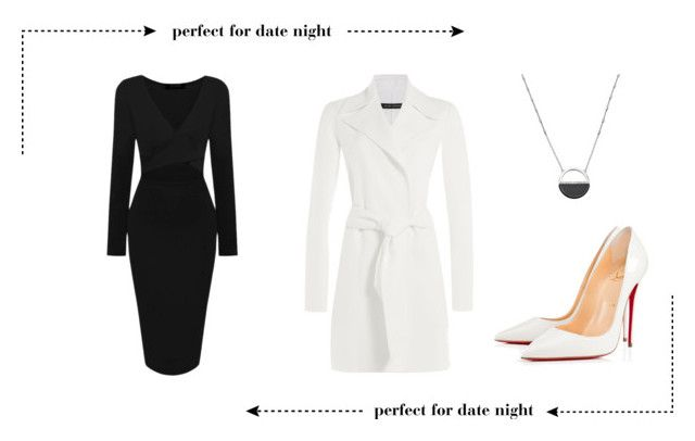 """Date Night Outfit"" by ultimate-beatles-fan ❤ liked on Polyvore featuring Ralph Lauren Black Label, White House Black Market, Christian Louboutin, women's clothing, women, female, woman, misses, juniors and white"