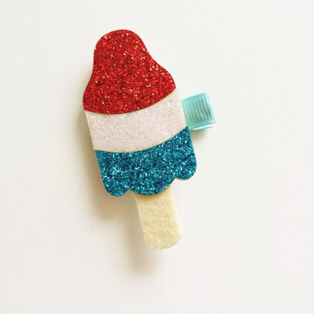 Handmade Felt Ice Cream Hair Clips