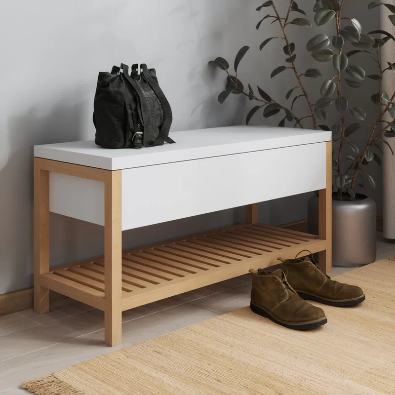 Rosecliff Heights Vina Shoe Storage Bench Wayfair In 2020 White Storage Bench Bench With Shoe Storage Storage Bench