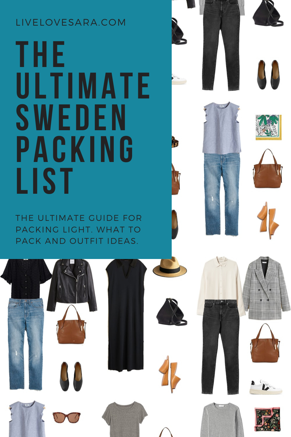 The Ultimate Sweden Packing List And Outfit Ideas In 2020 Summer Travel Wardrobe Clothes Capsule Wardrobe Summer Capsule Wardrobe