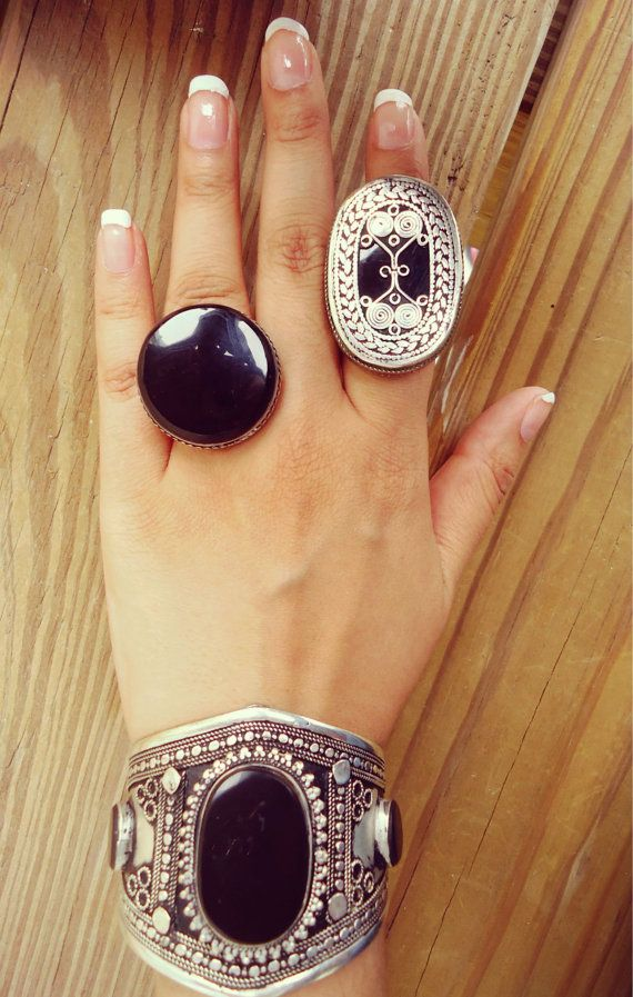 Beautiful Vintage silver ring Afghan ring Aqeeq by ZamarutJewel, $58.00