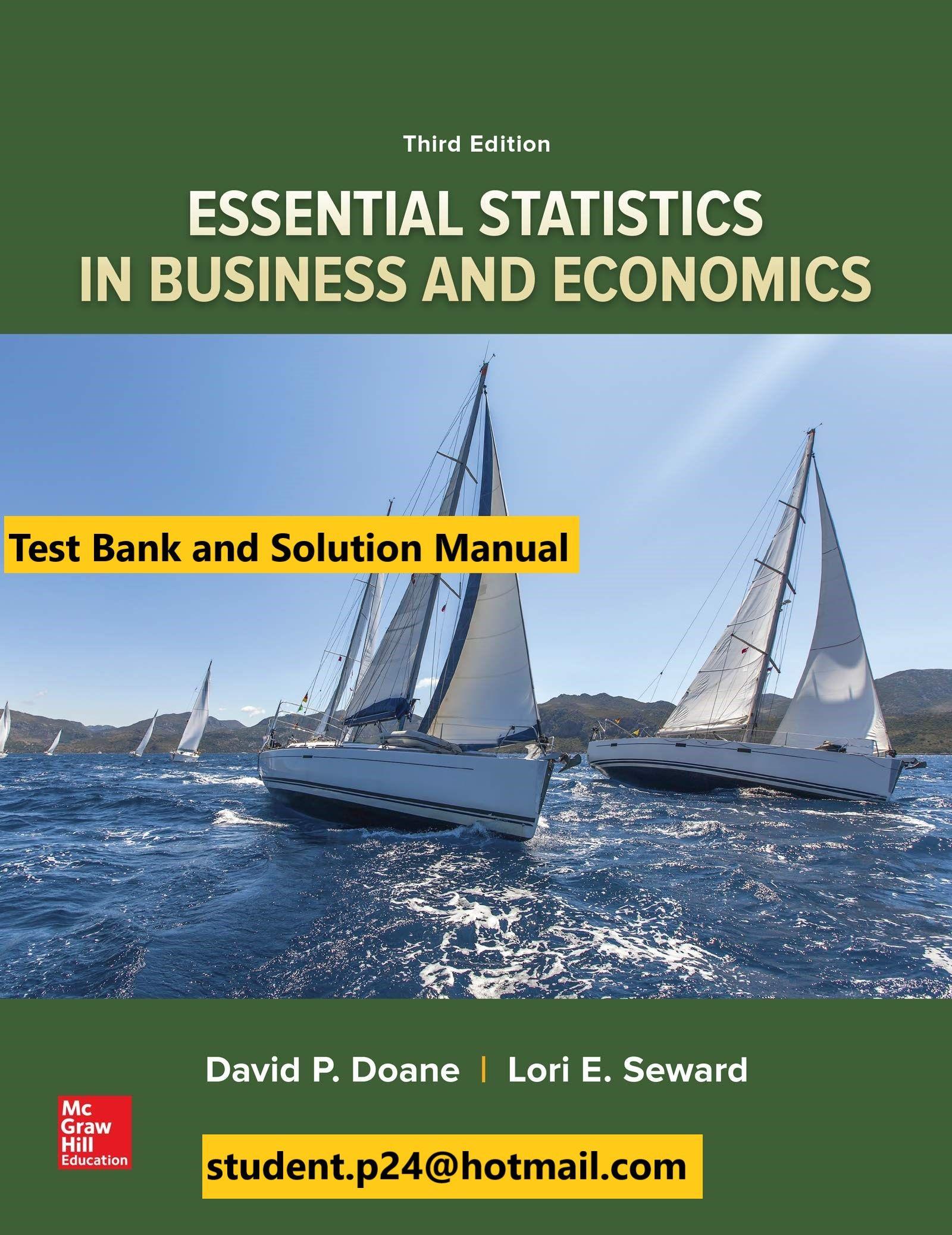 Essential Statistics In Business And Economics 3rd Doane