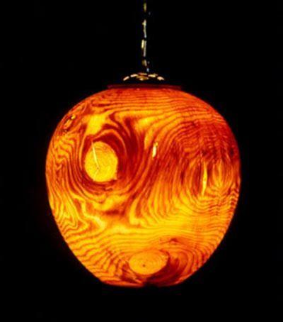 Pendant Wood Turned Lamp Shades