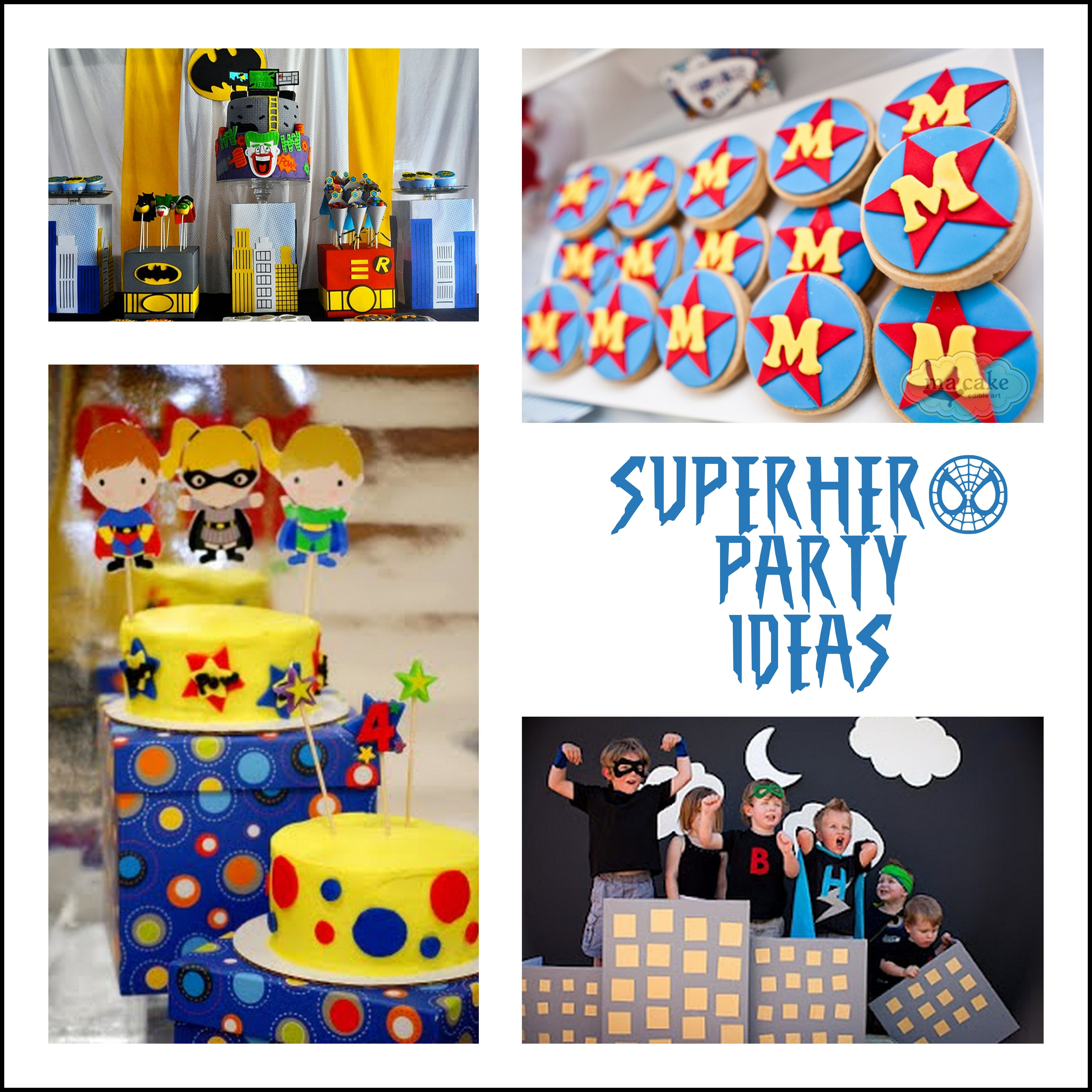 superhero party ideas make create do party ideas