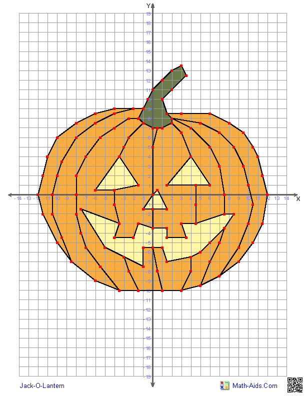 Graphing Worksheets just in time for Halloween | Math-Aids.Com ...